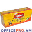 Lipton in tea bags.  (25 bags per box), Yellow label black tea.
