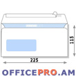 Envelope with transparent window, white, peel & seal, 115 x 225mm (A4 paper folded 3 times).