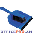 Brush and dustpan with rubber lip, comlect.