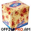 Napkins, 100 pcs., two-ply, in cubic box, size  11 x 11 x 10 cm.