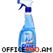 Cleaning liquid for glass surfaces, contains alcohol, with pulverizer, 500 ml.