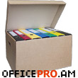 Long term storage box for 7 box files. Material - Densed carboard., Grey