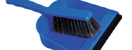 Dustpans, mops, brushes